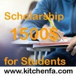 Get Best kitchen-fa Scholarship 1500$